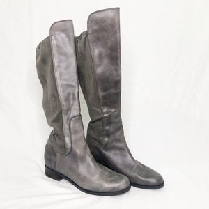 Cole Haan Womens suede boots Gray stretch 10 B